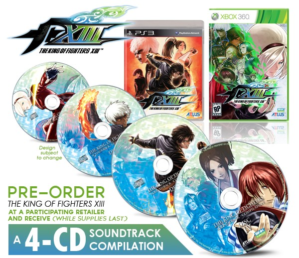 The King Of Fighters Xiii Bonus Soundtrack Game Preorders