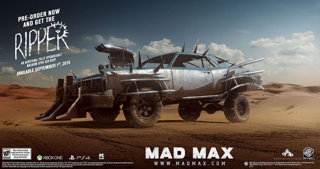 Mad Max Pre-Order Bonuses | Game Preorders