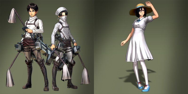 Attack on Titan Bonus Costumes