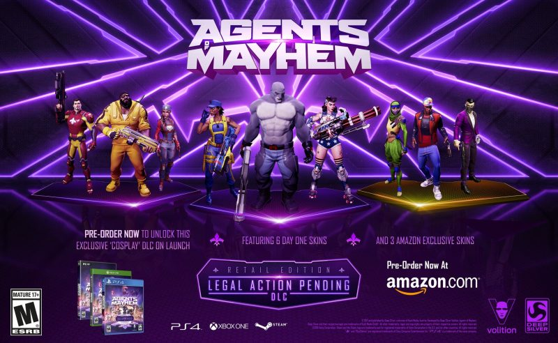 Agents of Mayhem - Amazon Exclusive Skins