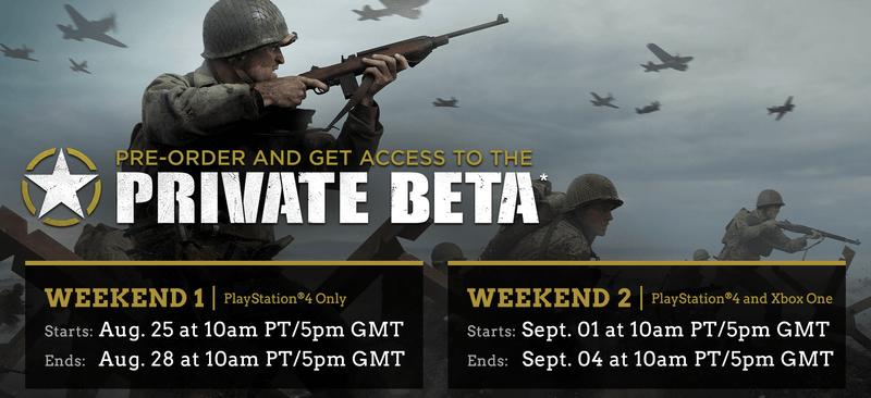 Call of Duty: WWII - Private Beta Details