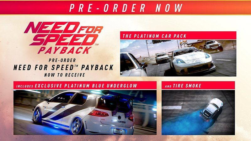 Need for Speed Payback - Platinum Car Pack