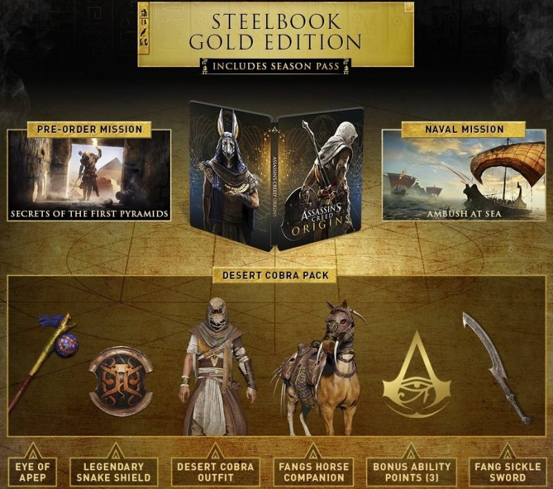 Assassin's Creed Origins - Steelbook Gold Edition