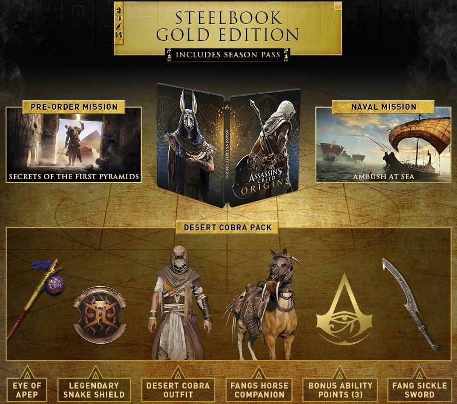 Assassin S Creed Origins Game Preorders