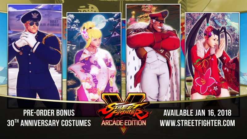 Street Fighter V: Arcade Edition - 30th Anniversary Costumes