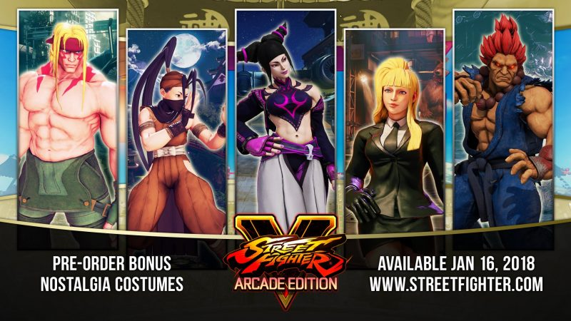 Street Fighter V: Arcade Edition - Nostalgia Costumes