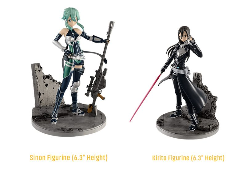 Sword Art Online: Fatal Bullet - Kirito and Asuna Figurines