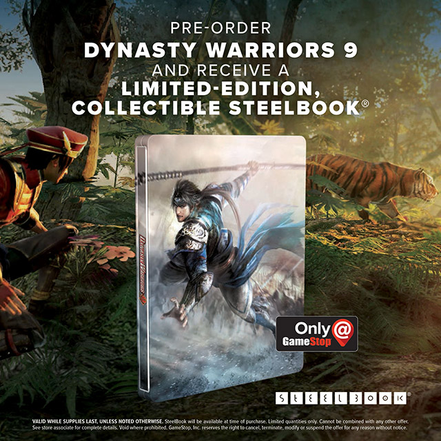 Original Game Cases & Boxes Dynasty Warrior 9 Steelbook Only