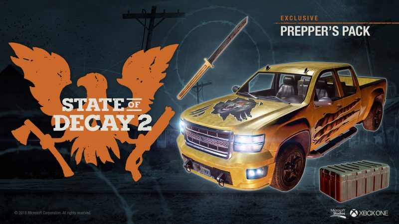 state of decay 2 prepper s pack game preorders. Black Bedroom Furniture Sets. Home Design Ideas