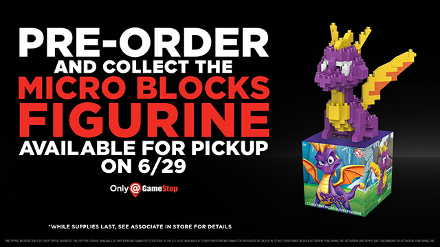 Spyro Micro Blocks Figurine