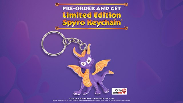 Spyro Reignited Trilogy - GameStop Keychain