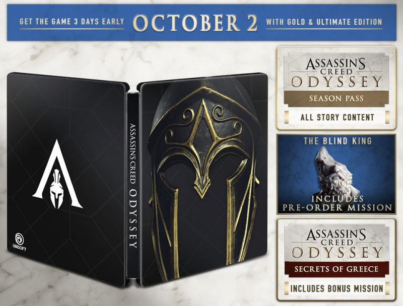Assassin's Creed Odyssey - Gold Steelbook Edition
