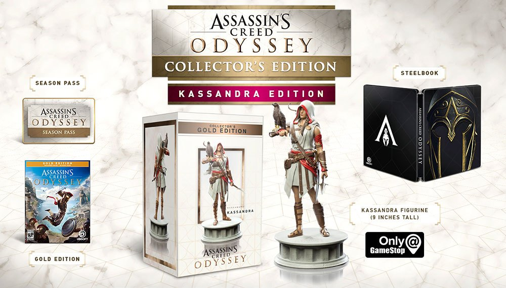 assassins creed odyssey spartan collector edition ps4