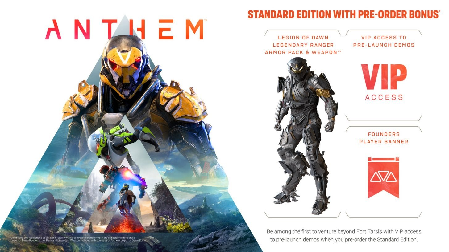 Anthem Game Preorders