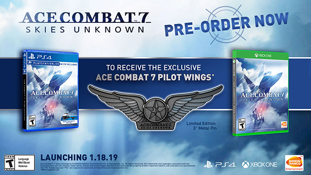 Ace Combat 7: Skies Unknown - Pilot Wings