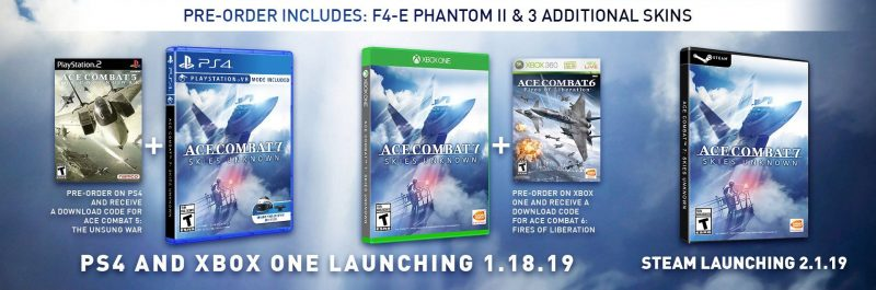 Ace Combat 7: Skies Unknown - Pre-Order Bonuses