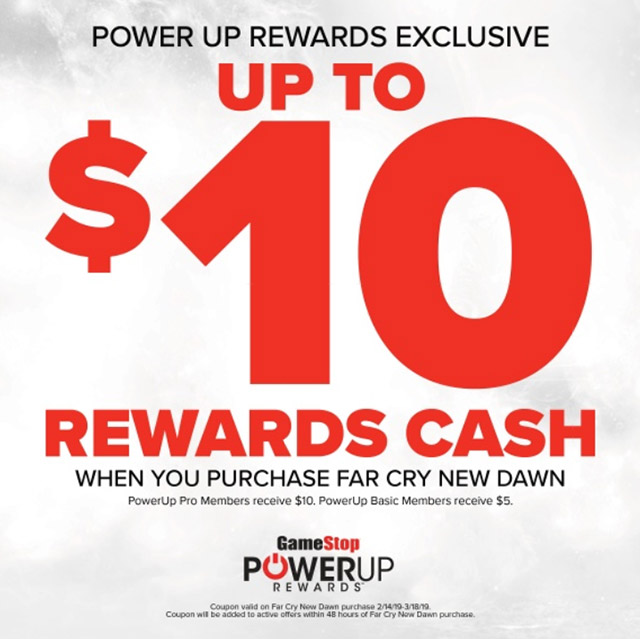Far Cry: New Dawn - $10 in Rewards Cash