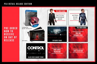 Control - PS4 Retail Deluxe Edition