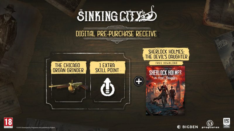 The Sinking City - Digital Pre-Purchase Bonuses