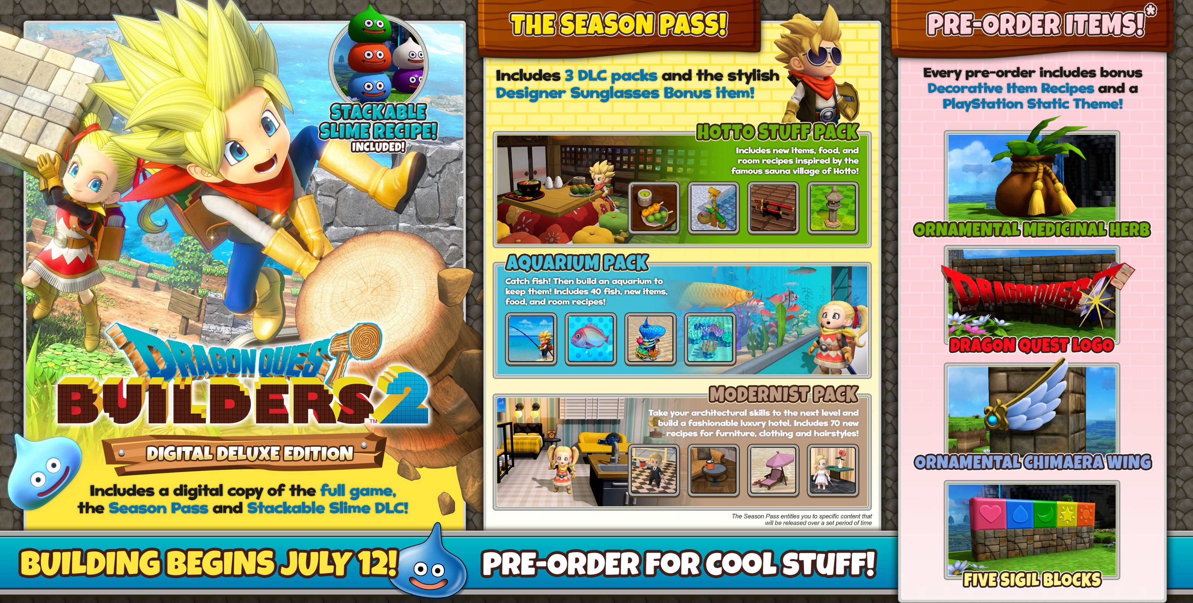 Dragon Quest Builders 2 Game Preorders As well as combining items to form new rooms, you can also put them together to create sets, which are both. dragon quest builders 2 game preorders