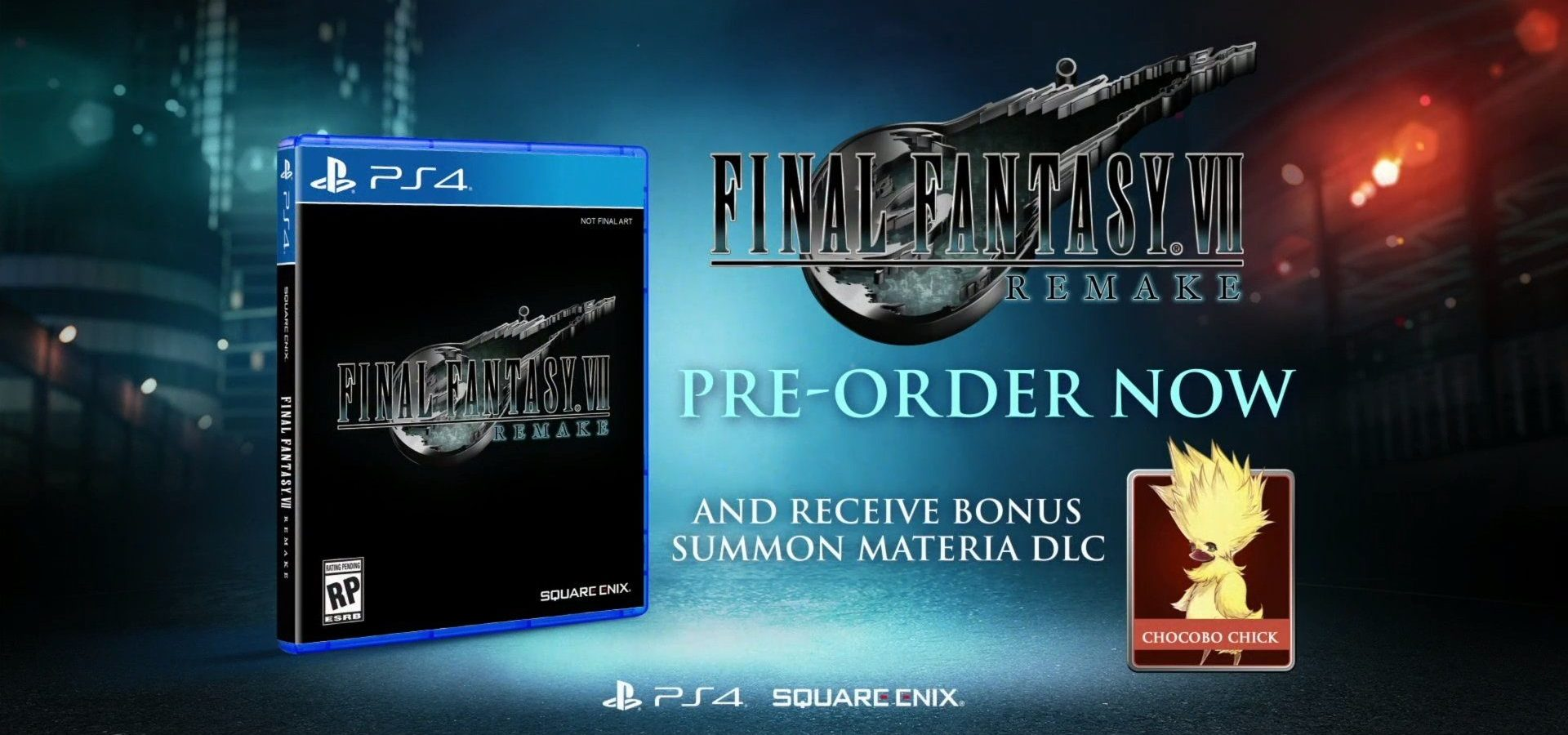 FINAL FANTASY Vll FF7 REMAKE First Purchase Benefits Cloud MIni Acrylic Stand