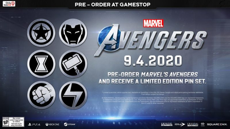 Marvel's Avengers - Limited Edition Pin Set