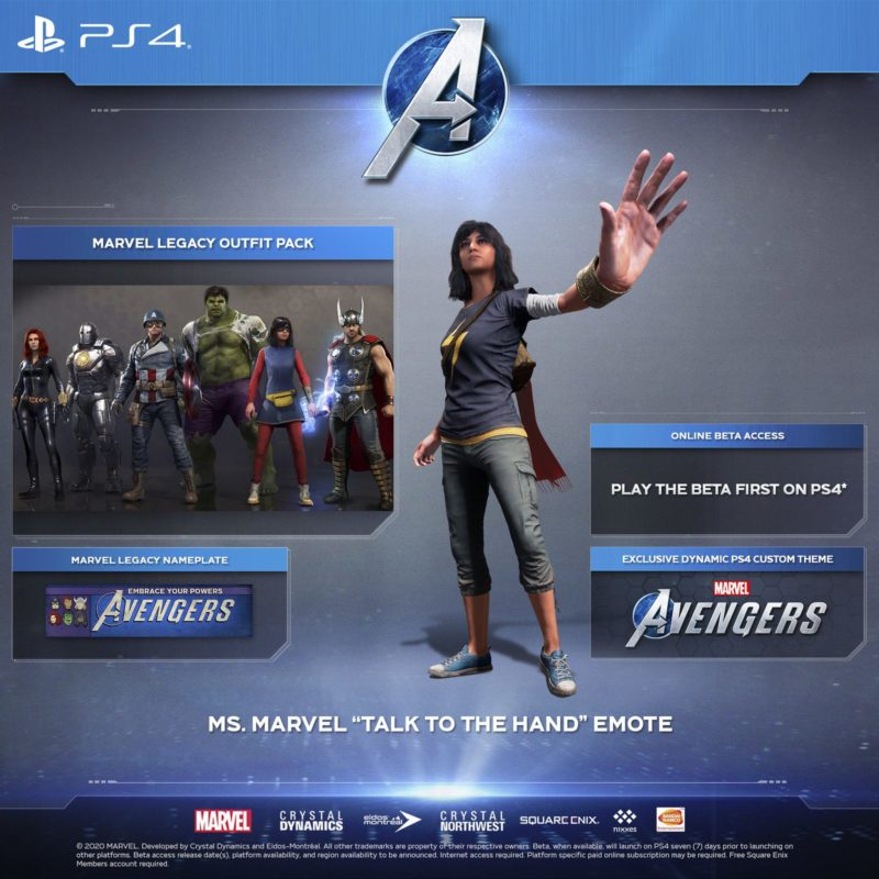Marvel's Avengers - PlayStation 4 Bonuses