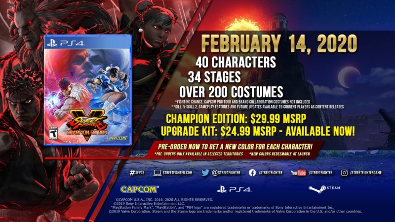 Street Fighter V: Champion Edition - Pre-Order Bonus