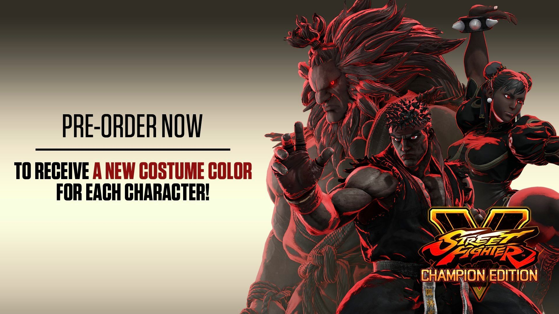 Street Fighter V Champion Edition Game Preorders