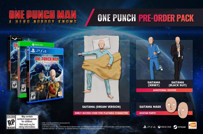 One Punch Man: A Hero Nobody Knows - Pre-Order Pack