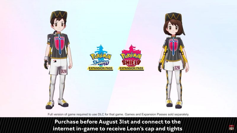Pokémon Sword and Shield Expansion Pass - Leon's Cap and Tights