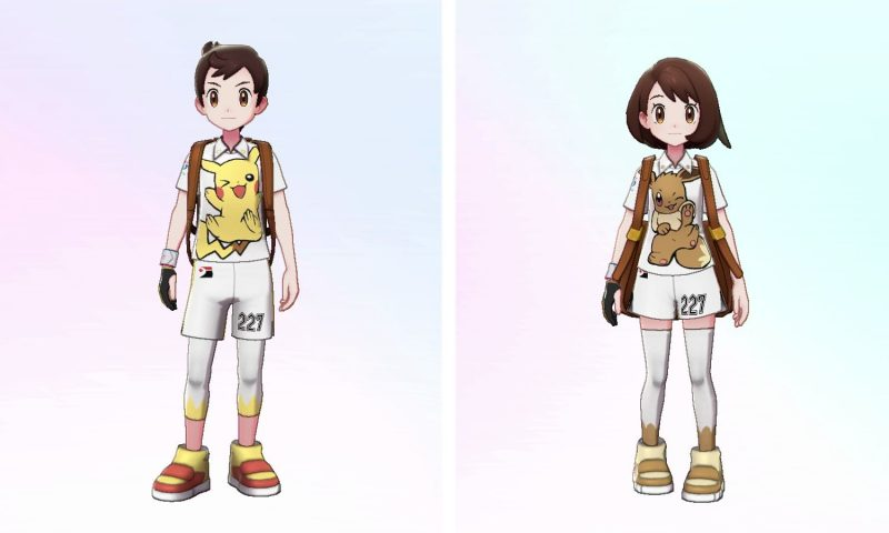 Pokémon Sword and Shield Expansion Pass - Pikachu and Eevee Uniforms