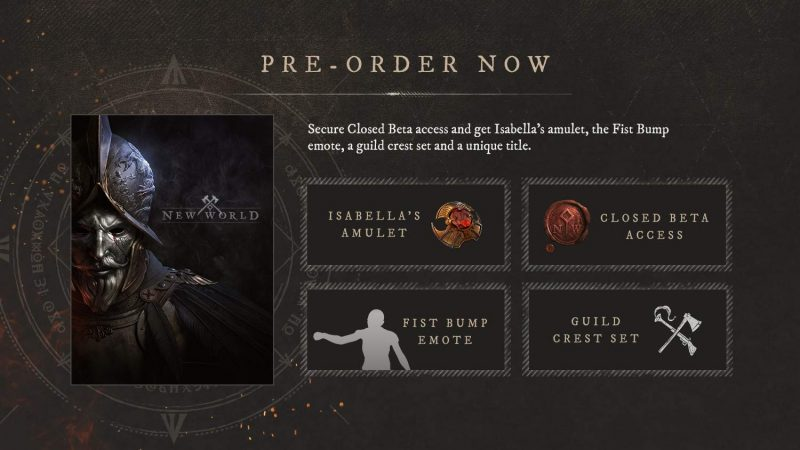 New World - Pre-Order Bonuses