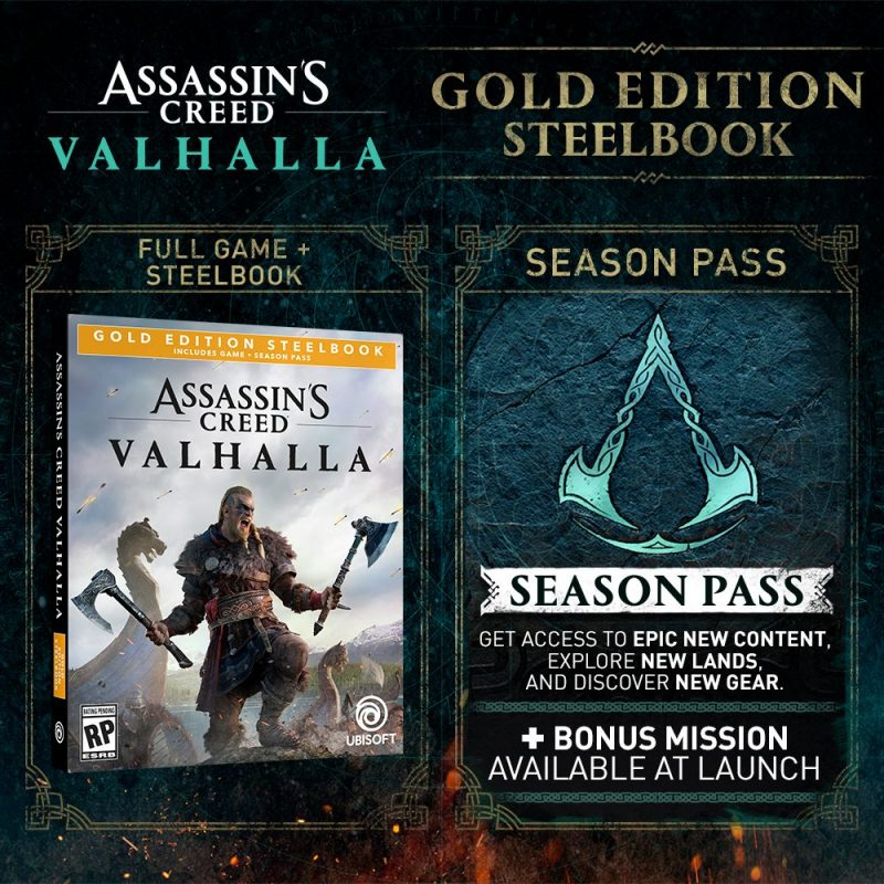 Assassin's Creed Valhalla - Gold SteelBook Edition