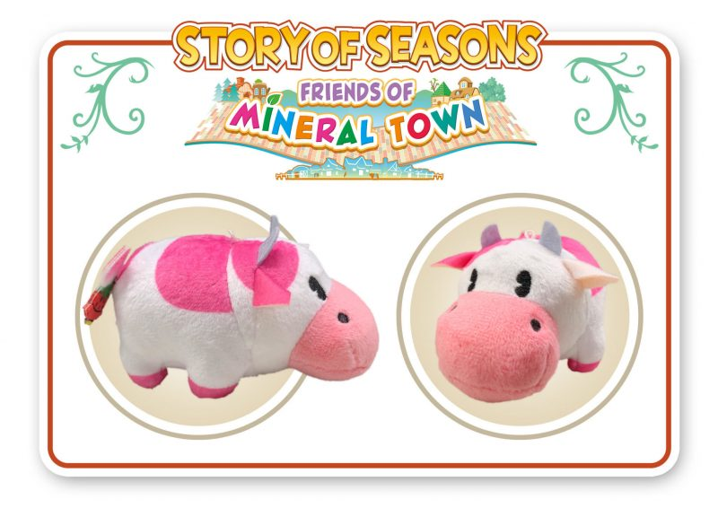 Story of Seasons: Friends of Mineral Town - Strawberry Cow Pocket Plush