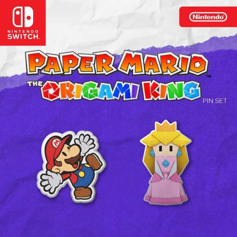 Paper Mario: The Origami King - Pin Set
