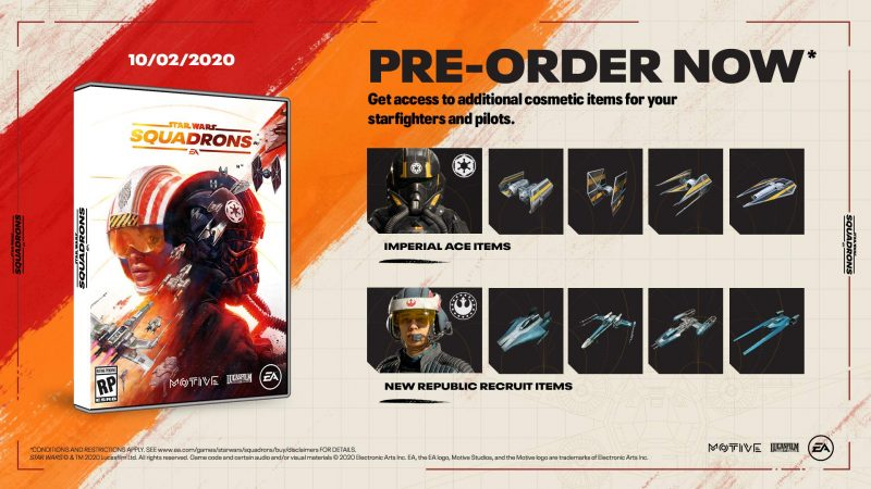 Star Wars: Squadrons - Pre-Order Cosmetics