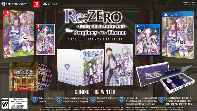 Re:ZERO - The Prophecy of the Throne - Collector's Edition