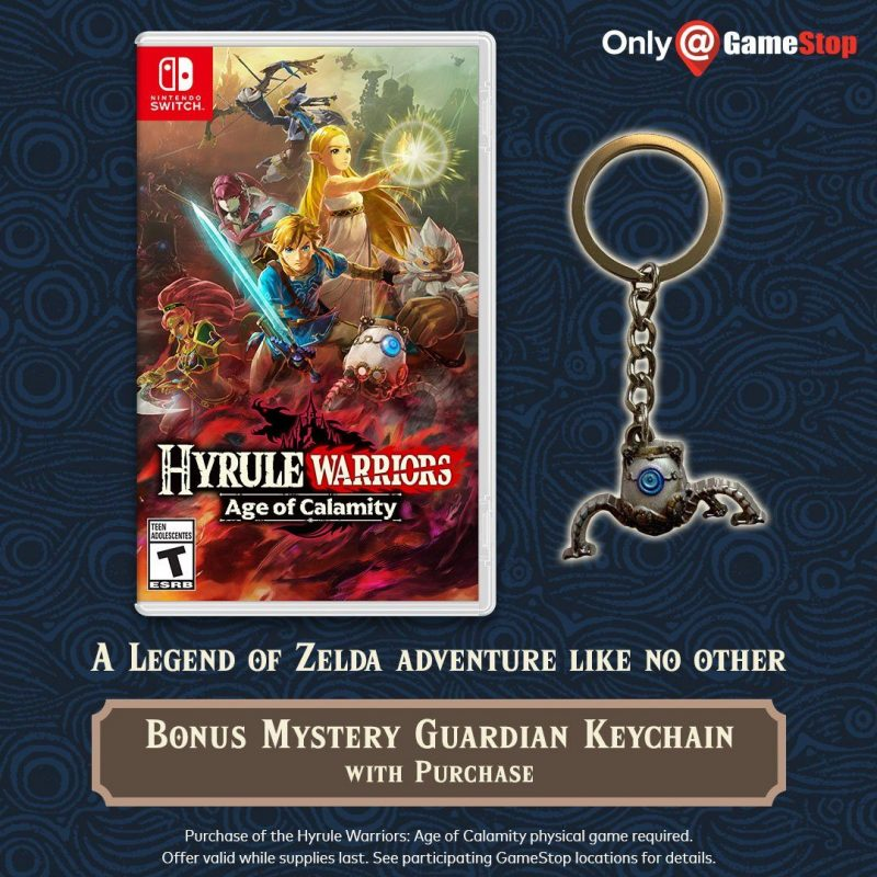 Hyrule Warriors: Age of Calamity - Guardian Keychain