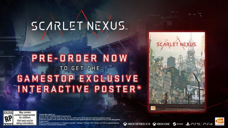 Scarlet Nexus - Interactive Poster