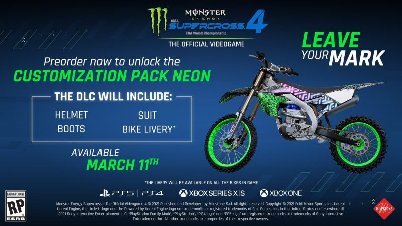 Monster Energy Supercross 4 - Customization Pack Neon