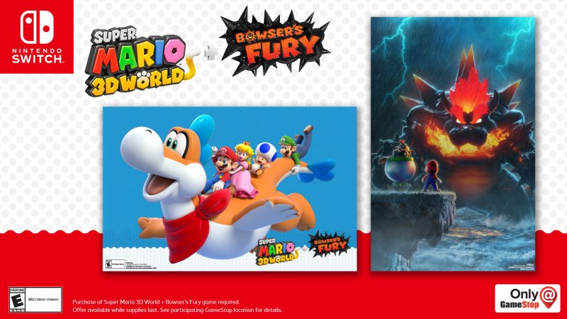 Super Mario 3D World + Bowser's Fury - Pre-Order Posters