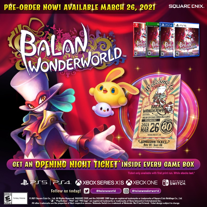 Balan Wonderworld - Collectors Show Ticket